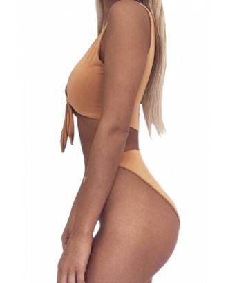 Womens Sexy Bandeau Tup%High Waist Swimwear Bottom Bikini Ginger