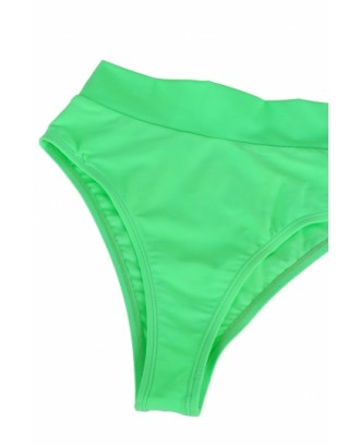 Sexy Bandeau High Waisted Bikini Bottoms Set Two Piece Swimsuits Green