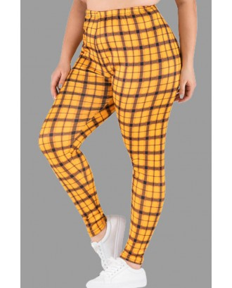 Lovely Casual Printed Yellow Plus Size Pants