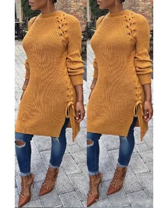 Lovely Trendy Bandage Design Croci Sweater
